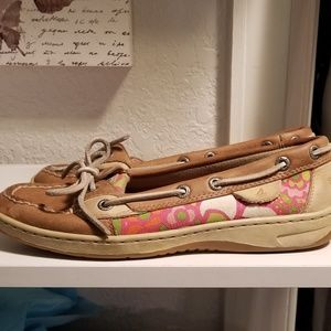 Sperry topsiders tan boat shoes size 6